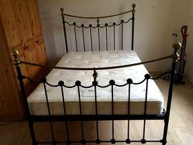Freecycle Double metal bedstead and mattress