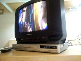 Freecycle TV and DVD player