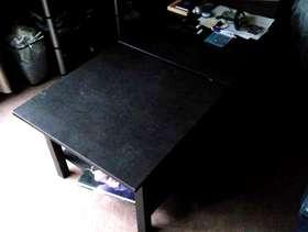 Freecycle Ikea dark wood split coffee table