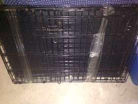 Freecycle Free wire collaspable dog cage. Medium size