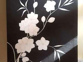 Freecycle Flower canvas