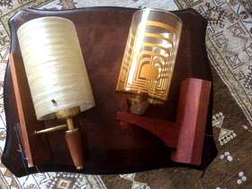 Freecycle 2 pairs of retro wall lights
