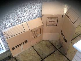 Freecycle Used removal boxes