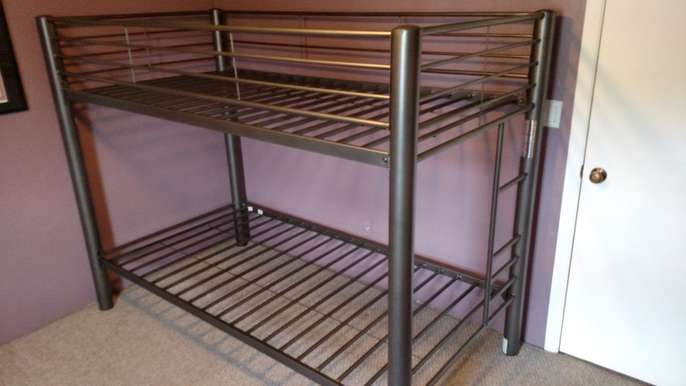 Freelywheely metal bunk bed frame from american signature for American furniture bed frames