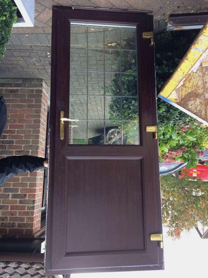 Freelywheely Double Glazed Kitchen Door In Rosewood Upvc