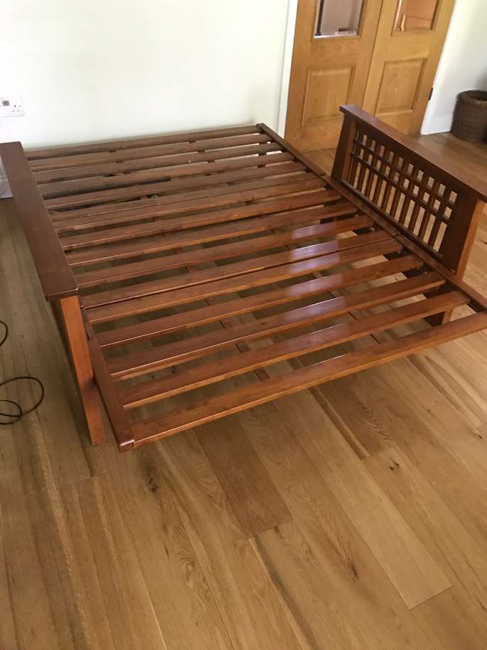 Freelywheely double futon sofa bed base no mattress for Divan bed no mattress