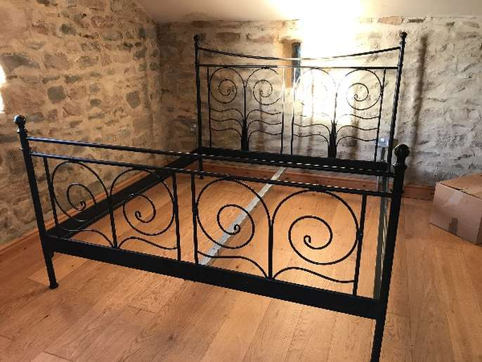 super popular 5efd8 774a3 FreelyWheely: Ornate black ikea noresund bed frame