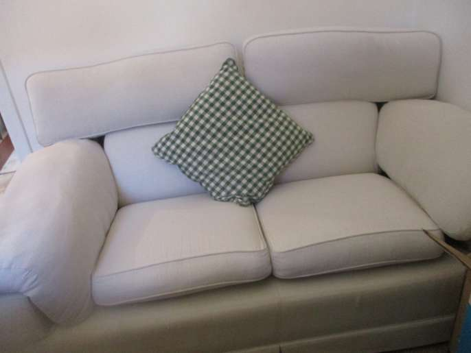 freelywheely creamtwo seater sofa with removable covers
