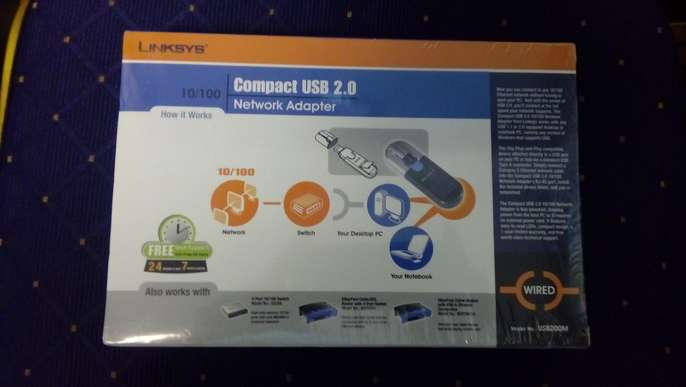 Not compatible with Windows 8 Cisco-Linksys USB200M EtherFast USB 2.0 10//100 Network Adapter