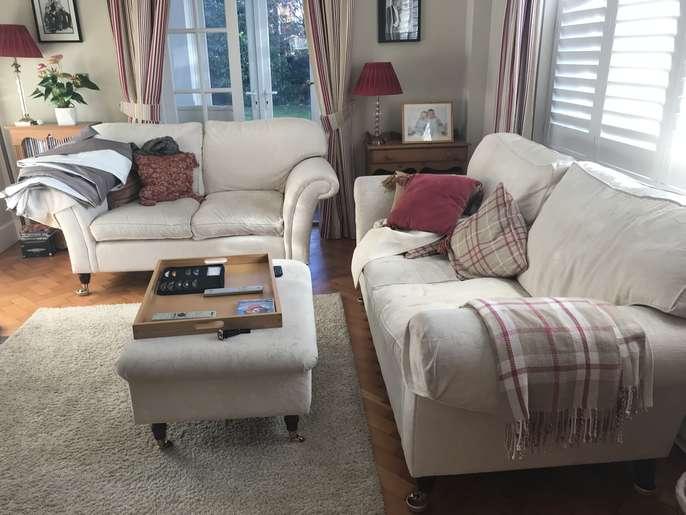 FreelyWheely: Laura Ashley Ashino natural sofas and chair