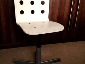 Freecycle Ikea Child's Jules White Swivel Desk Computer Chair