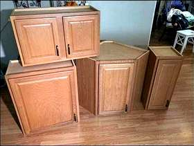Freecycle Four Kitchen Wall Cabinets