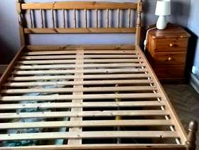 Freecycle Pine Double Bed