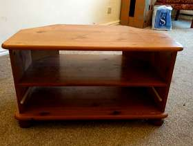 Freecycle Sturdy wooden TV table.