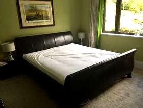 Freecycle Leather super king size bed & mattress