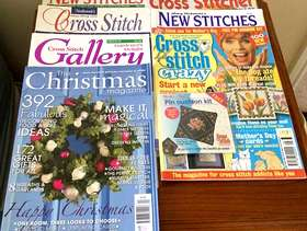 Freecycle 6 Cross Stitch Magazines And 1 Christmas Mag