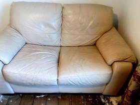 Freecycle 2 small cream sofas