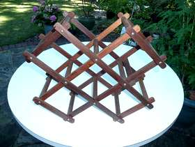 Freecycle Wooden Wine Rack
