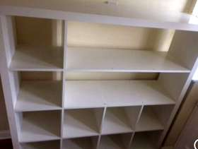 Freecycle White Ikea Shelf