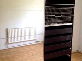 Freecycle Glass fronted wardrobe