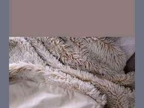 "Freecycle Faux Fur Beige Throw / Bedspread by Next (76"" x ..."
