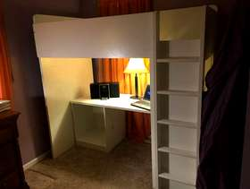 Freecycle IKEA KIDS BED W/ desk