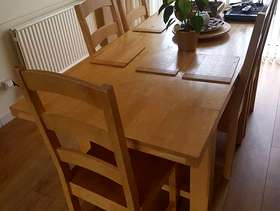 Freecycle Dining room table and chairs