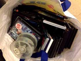 Freecycle DVD player and lots of DVDs