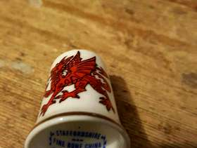 Freecycle China welsh dragon thimble