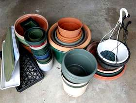 Freecycle Planters/Flower Pots