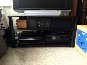 Freecycle Black Television stand and storage unit