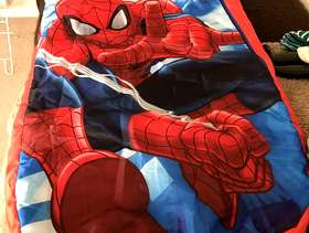 Freecycle Spider-Man Air bed/sleeping bag