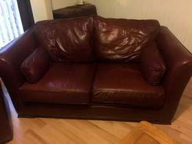 Freecycle 2 seater leather sofa.