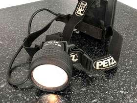 Freecycle Genuine Petzl tungsten lamp head torch. £2