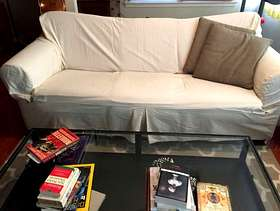 Freecycle Sofa. Great for napping!