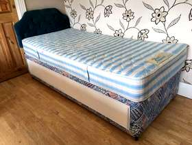 Freecycle Single divan bed with mattress