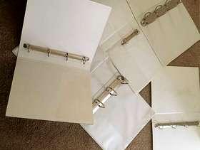 Freecycle 5 x ring binders