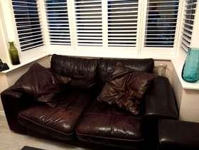 Freecycle Sofa Settee real leather dark brown Harrow ha3 area collection