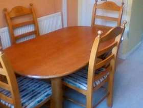 Freecycle Table and Six Chairs