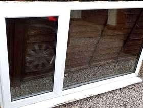 Freecycle White UPVC DOUBLE GLAZED WINDOW (frame & glass)