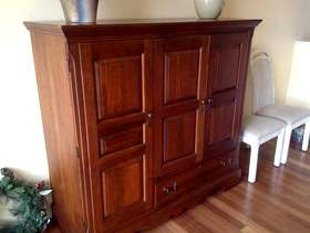 Freecycle Solid wood entertainment center