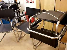Freecycle Steel framed chairs, some need repair