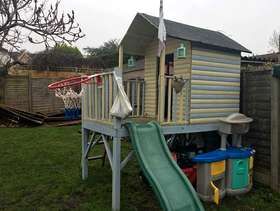 Freecycle Children's play house with slide