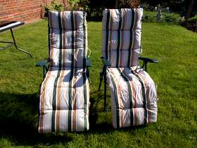 Freecycle Two garden recliner chairs