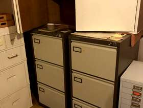 Freecycle Two-two drawer file cabinets and wooden storage