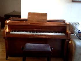 Freecycle Piano and stool