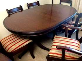 Freecycle Extending Table and Six Chairs