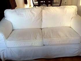 Freecycle 2 seater Ektorp sofa white