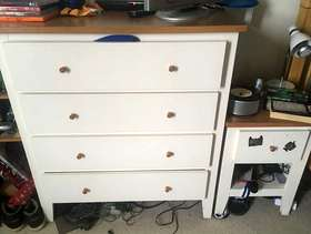 Freecycle Chest of drawers and bedside cabinet