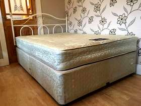 Freecycle Myers four drawer double divan bed